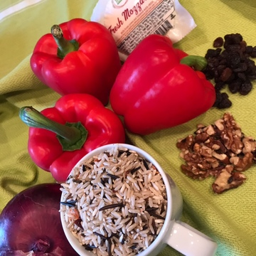 Wild Rice Stuffed Red Peppers 1