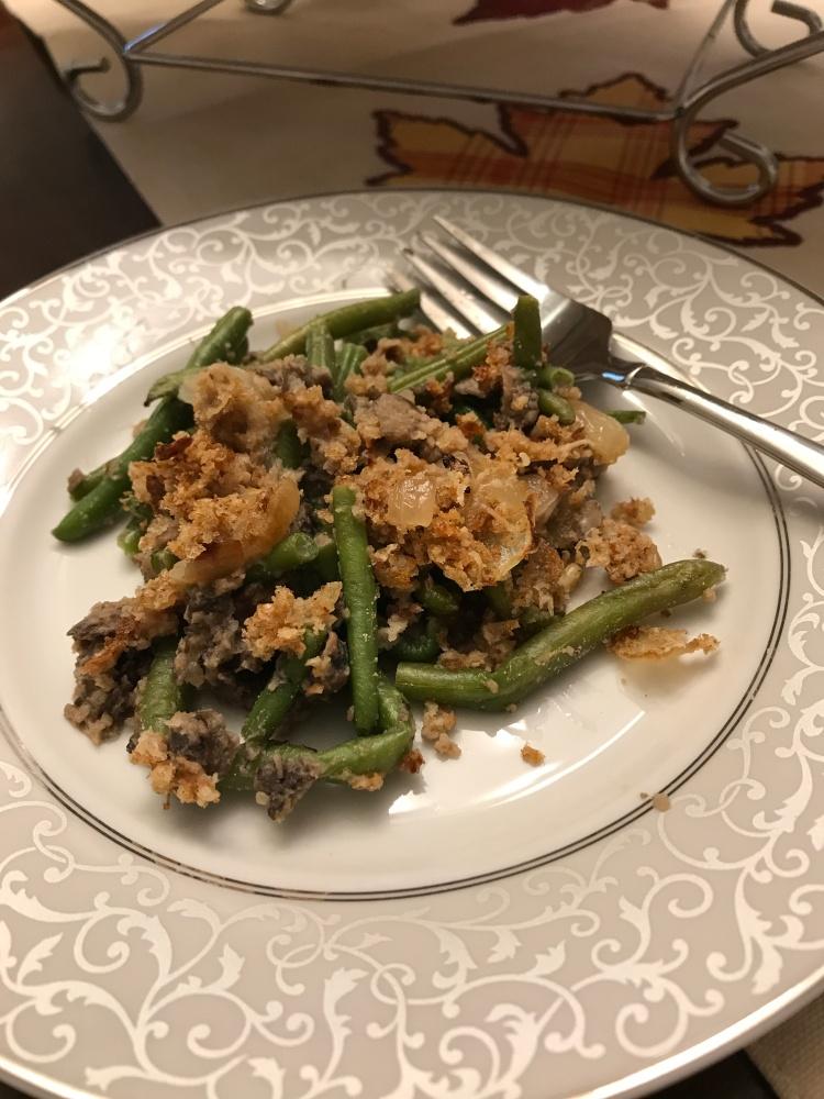 Green Bean Casserole Plated 2