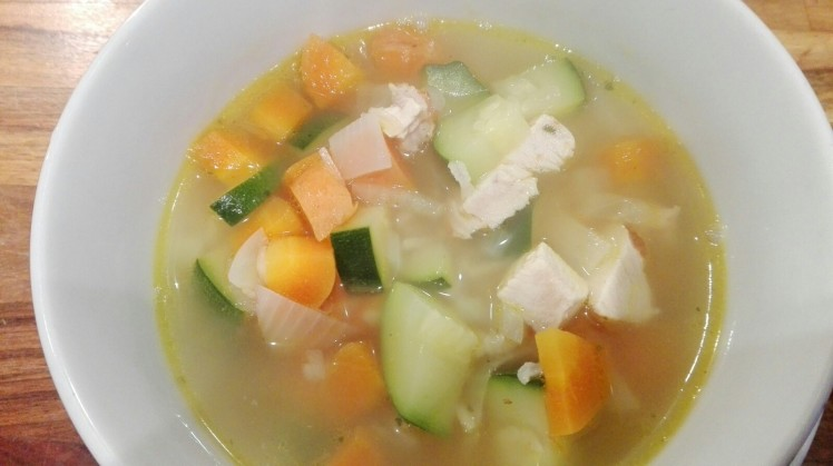 Hearty Chicken Soup cooking served 2